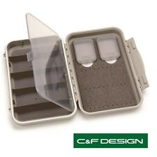 C & F Design Medium 2-Row Waterproof Tube Fly Case With 5 Compartments(CF-2405H)