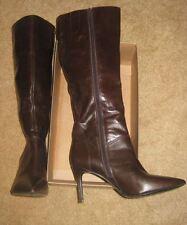 Nine West Sugar Fluff Women Dark Brown Knee Boot *Sz 7.5M