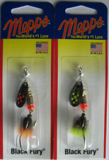 2 - Mepps  Black Fury Spinner - 1/8 oz.- Two Popular Colors!