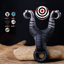 Traditional Slingshot Archery Slingbow Hunting Powerful Catapult Shooting Target
