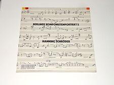 HANNING SCHRÖDER - LP - Berliner Komponistenportät 2 - Ulbrich Quartet - Negyesy