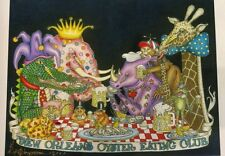 """NEW ORLEANS OYSTER EATING CLUB "" Jamie Hayes , ELEPHANT, GIRAFFE, RHINOCEROUS"