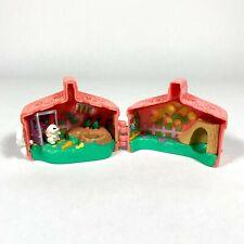 1995 Littlest Pet Shop Tonka LPS Hop 'n Go Bunny & Garden Hutch w/ 1 Rabbit