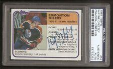 Wayne Gretzky HOF 1981 O-Pee-Chee Card #52 Signed Auto PSA/DNA ENCAPSULATED