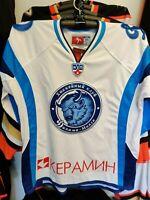 BACKSTORM #99- DINAMO MINSK KHL PRO HOCKEY JERSEY LUTCH