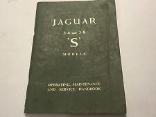 Jaguar 3.4L 3.8L S TYPE OWNERS OPERATING SERVICE & MAINTENANCE HANDBOOK MANUAL