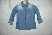CHEMISE JEANS ASTON MARTIN NEUF 3/6 MOIS BEBE/BABY DRESSSHIRT/CAMISA/CAMICIA