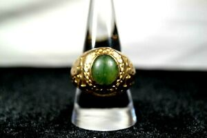 10k Gold Emerald US Marine WWII Veteran Military H&H Imperial EAG Ring 17gr
