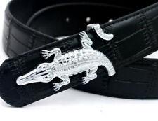 Buckles In Pure 925 Real Silver Women's Fashion Party Crocodile Design Fine Belt