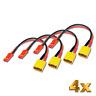 4x Stück Adapter XT30 Stecker Male auf JST BEC Female 10cm 20AWG Kabel RC