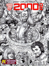 2000ad Prog #2000 Previews PX B&w Cover 1500 Limited Edition 2016