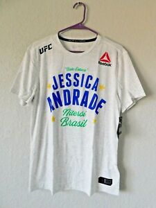 Mens Reebok Jessica Andrade Chalk Authentic UFC 237 Legacy Series Walkout Jersey