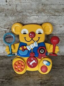 Vintage 1981 Matchbox Yellow Teddy Bear Baby Cot Activity Toy Rare