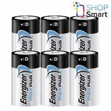 6 ENERGIZER MAX PLUS D LR20 BATTERIES ALKALINE 1.5V MONO R20 MN1300 AM1 E95 NEW