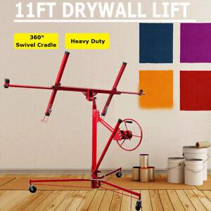 11FT Drywall Hoist Lift/Lifter Caster Plaster Board Panel Sheet Heavy Duty Tool