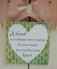 Handmade Plaques Sign Gift Present Quote Phrase Best Friend Saying Friendship