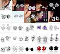Wholesale 925 Sterling Silver Earrings Ear Stud Fashion Jewelry Birthday Gift