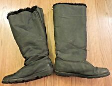Black WINTER CREEK Winter Boots 7.5M ZIP BACK Fleece Lined Plastic Sole