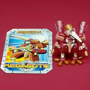 """Medabots Robattle 2"""" Inch Mini Figure Arcbeetle with Card GREAT SHAPE"""