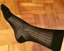 3 PAIRS Mens Tuxedo Dress Socks 100% Silky Sheer Mid Nylon Black Size 10-13 RHT
