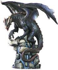 "8.75"" Dragon on Rocks Statue Figurine Magic Figure Fantasy Home Decor Sculpture"