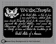 American flag Constitution We The People Preamble 2a Veteran sticker decal