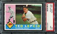 1960 Topps Baseball #97 TED LEPCIO Philadelphia Phillies PSA 7 NM