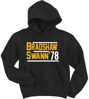 Terry Bradshaw Lynn Swann Pittsburgh Steelers 1978 HOODED SWEATSHIRT
