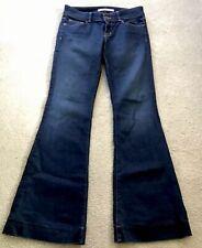 J Brand LoveStory Dark Vintage Wash Stretch Flare Blue Jeans Womens Size 27  EUC