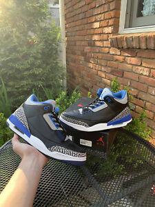 Nike Air Jordan 3 III Retro Black/Sport Blue/Wolf Grey Size 10.5 136064-007