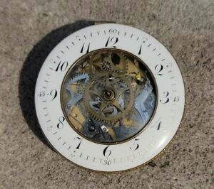 Antique French Verge Fusee Triple Hammer Repeater Movement