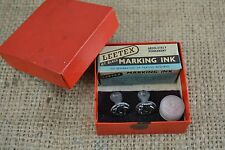 VINTAGE 1950s LEETEX linen marking kit letter stamps monogram NC and DC