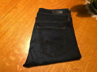 AG ADRIANO GOLDSCHMIED FARRAH HIGH RISE SKINNY STRETCH JEANS 27 X 32 VERY NICE!!