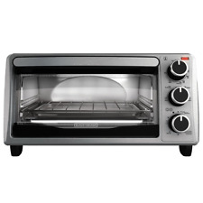 BLACK+DECKER TO1303SB 4-Slice Toaster Oven, Stainless Steel Includes Bake Pan...