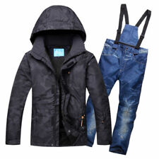 Mens Winter Warm Ski Suits Waterproof Ski Pants Jackets Coat Snowboard Snowsuits
