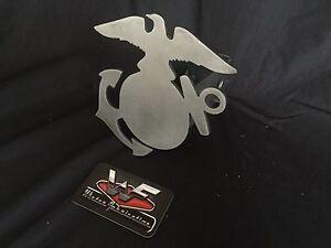 "USMC Eagle Globe & Anchor Hitch Cover - 1/8"" Steel - US Marines Custom EGA"