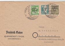 Deutsche Post Auslandsbrief, 23.7.1949, Arnstadt->Luzern(CH), MiNr. 185,208,215