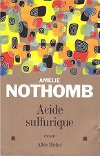 AMELIE NOTHOMB ACIDE SULFURIQUE + PARIS POSTER GUIDE