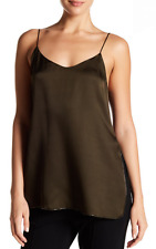 Theory Sleeveless Silk Tank Vine Green L NWT $265