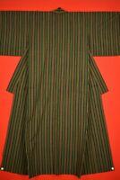 Vintage Japanese Kimono Wool Antique BORO KIMONO Kusakizome  Woven/VQ49/745