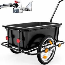 DeubaXXL Rimorchio Trasporto Oggetti per Bicicletta con Vasca in Plastica Rimovibile 90L - Nero (101987)