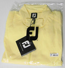 New With Tags Footjoy Performance Half-Zip Windshirt, Yellow, 23508, $65 Retail