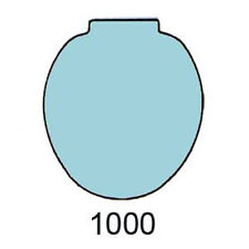 BLUE Toilet Seat for Case 1000, 3000, 2nd Model
