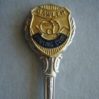 Gawler Bowling Club Blue EPNS Souvenir Spoon Teaspoon