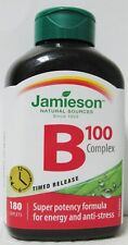 Jamieson Natural Sources Vitamin B 100 Complex 180 Timed Release Caplets