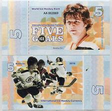 Ice Hockey 5 goals 2016 Bobby Orr - Fantasy Banknote UNC