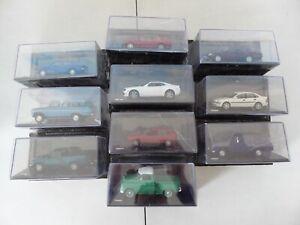 Lot de 10 voitures miniatures Chevrolet 1/43 SALVAT Diecast BOITES CASSEES CB2