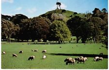 1980s New Zealand Postcard - Cornwall Park and One Tree Hill
