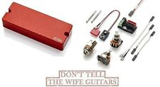 EMG 81-8 RED 8 STRING SOAPBAR ACTIVE SOLDERLESS GUITAR PICKUP w/ WIRING & POTS