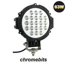 2x 12V 24V LED lampada da lavoro Faro 63W FUORISTRADA CAMION rotondo SUV